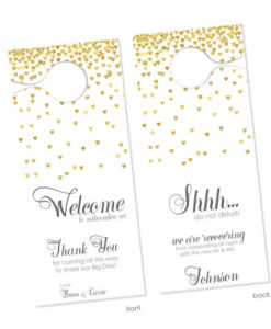 Personalized Wedding Door Hangers