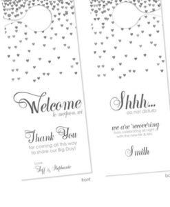 gray-wedding-door-hangers