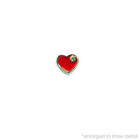 Red Heart Charm