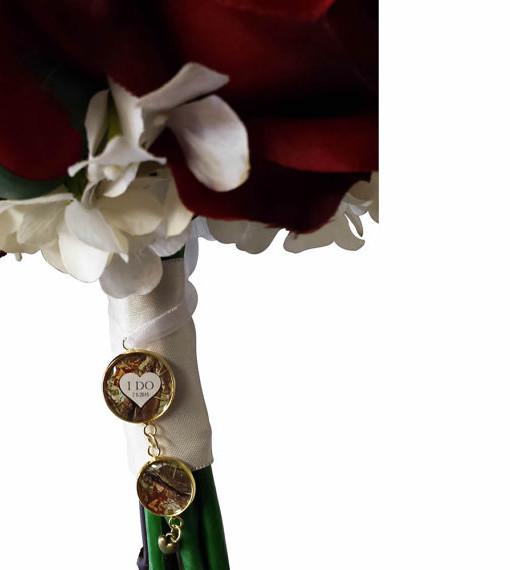 Camo Wedding Bouquet Charm