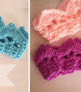 Newborn Crochet Knit Prince / Princess Crown Headband for Baby Girl or Baby Boy