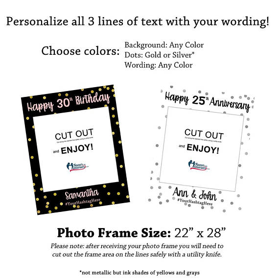 Birthday/Event Photo Booth Frame – Savor the Memories